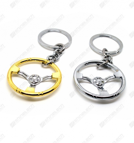Sølv / Guld rat nøglering