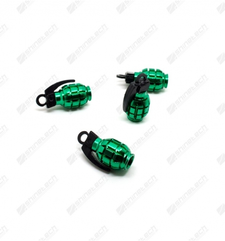Ventilhætter - Håndgranater Grøn