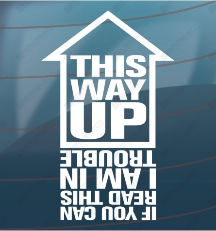 This way up sticker