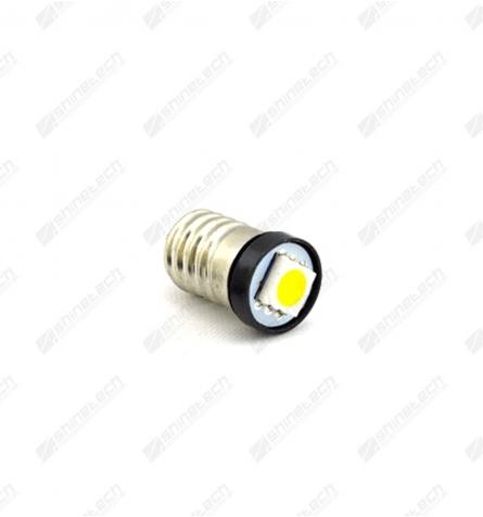 E10 1-LED SMD 6V 20 lm - Varm hvid
