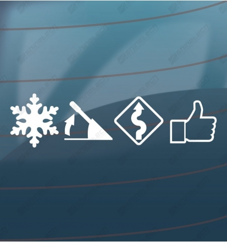 Snow drift sticker