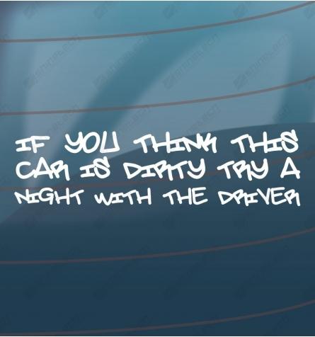 Dirty car sticker
