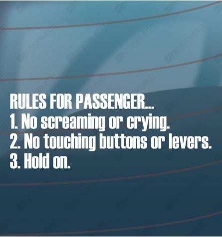 Rules for passenger
