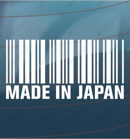Made in Japan stegkode JDM sticker