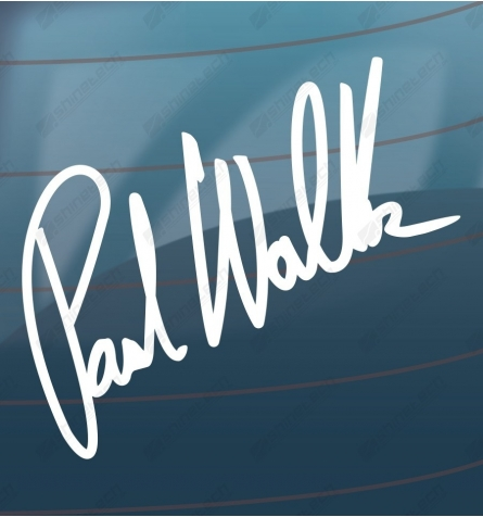 Paul Walker signatur