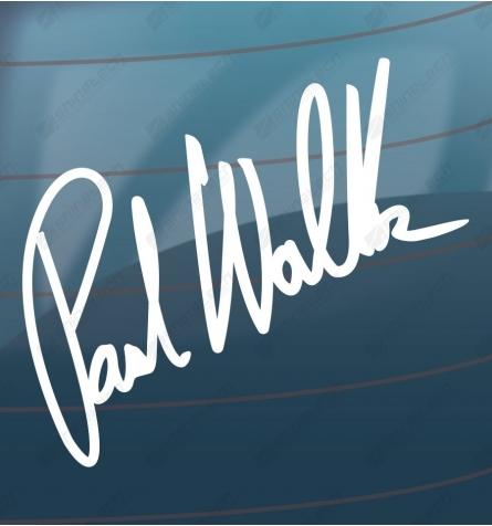 Paul Walker signatur