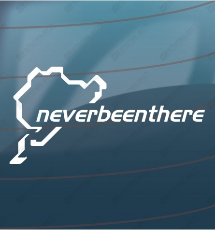Neverbeenthere - sticker