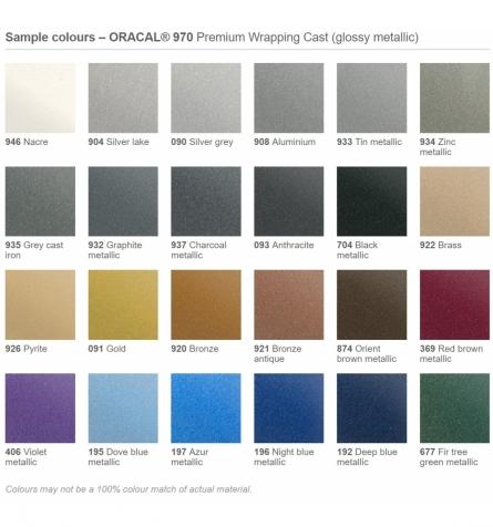 Indpakningsfolie m. kanaler - Metallic farver