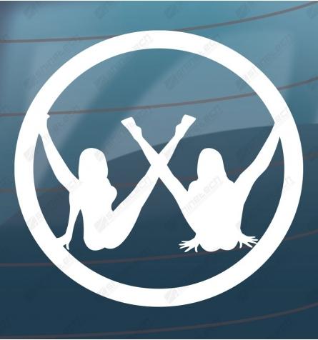 VW logo med damer