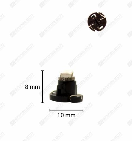 T4,2 2-LED SMD 12V 16 lm - Kold hvid
