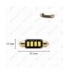 CANBUS - Pinolpære 41mm 6-LED SMD 12V 120 lm - Blå