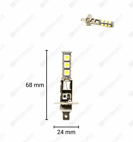 H1 13-LED SMD 12V 260 lm - Kold hvid