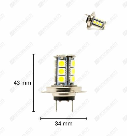 H7 13-LED SMD 12V 260 lm - Kold hvid