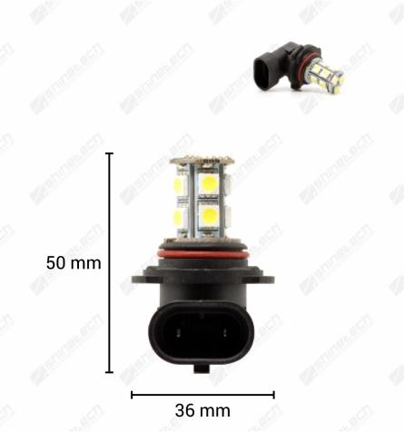 HB3 (9005) 13-LED SMD 12V 260 lm - Kold hvid
