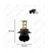 H4 13-LED SMD 12V 260 lm - Kold hvid