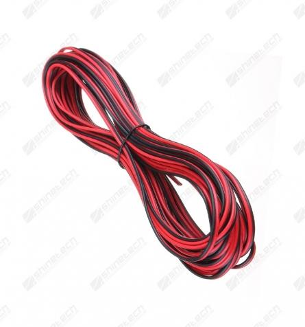Ledning - 2-pin sort/rød 22AWG