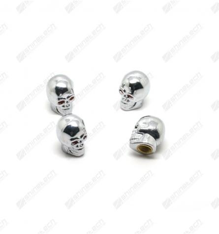 Ventilhætter - Skulls Sølv