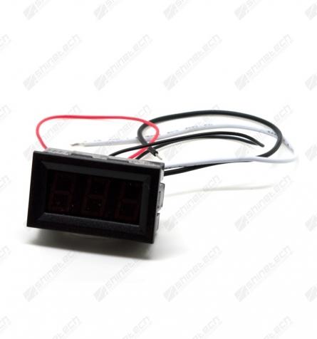 Digitalt amperemeter DC 4,5-30V 0-10A Rød / Blå / Grøn