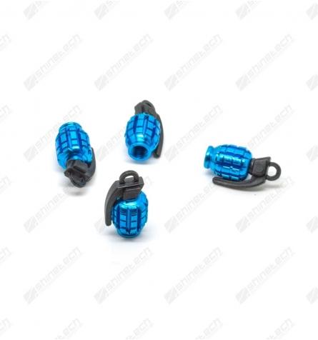 Ventilhætter - Håndgranater Blå
