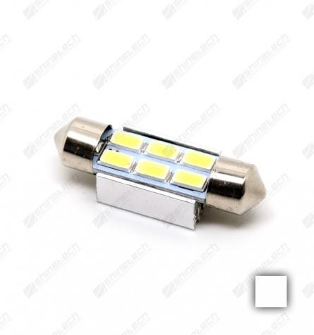 Pinolpære 41mm 6-LED SMD 24V 360 lm - Kold hvid